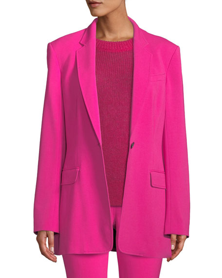 A.L.C Vernay Single-Breasted Jacket in Pink