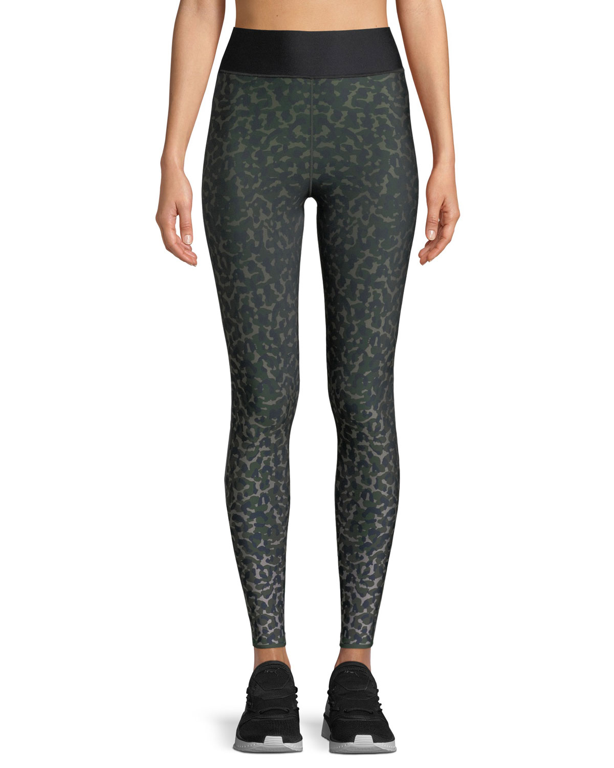 e07de68db87f01 Ultracor Ultra-High Leo Camo Leggings with Side Stripes | Neiman Marcus