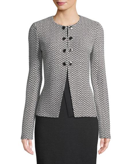 St. John Collection Mod Herringbone Knit Jacket