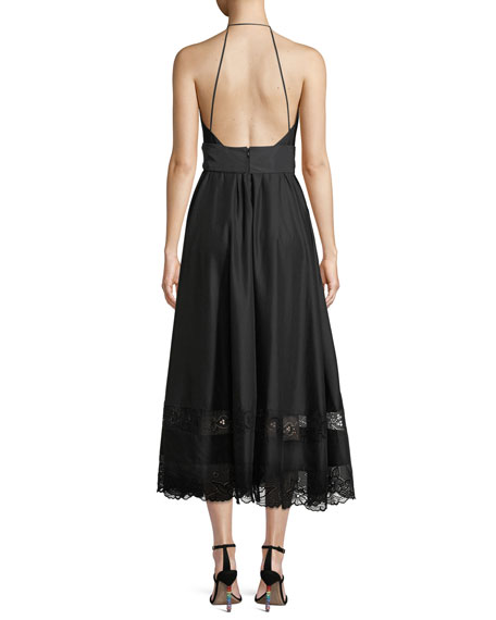 No. 21 Deep V Dress With Bow