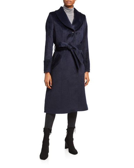 Sentaler Long Coat w/ Removable Suri Alpaca Fur Collar