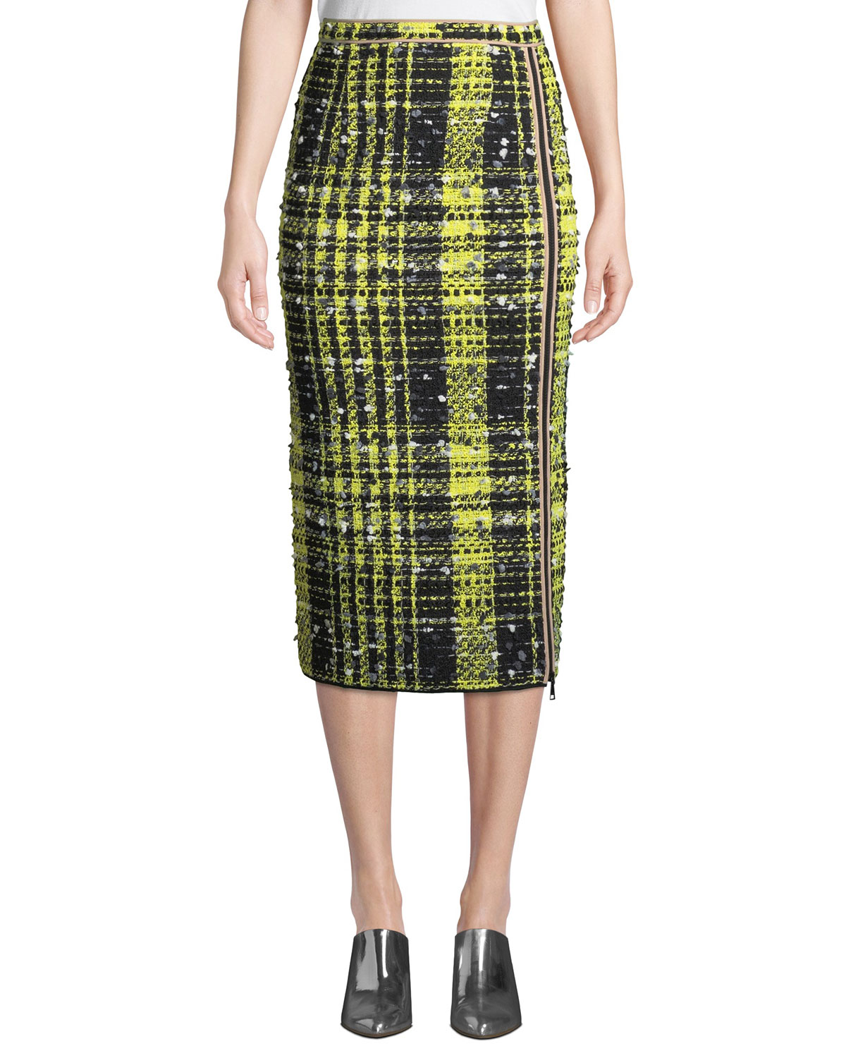 15fdc2bb0b No. 21 A-Line Checkered Midi Skirt | Neiman Marcus