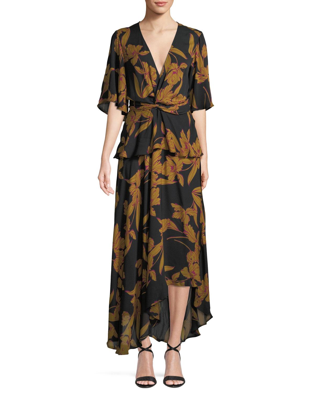 b36a764c1c6 A.L.C. Avi Floral-Print Silk Maxi Dress