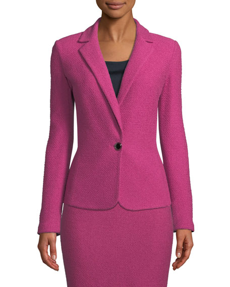 St. John Collection Gracefully Refined Knit One-Button Jacket
