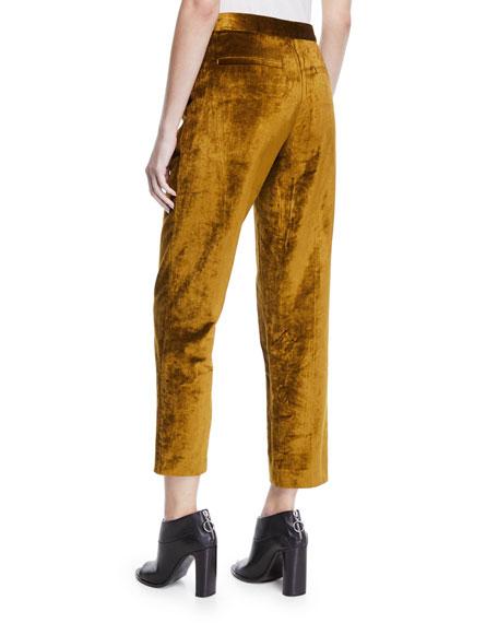 Rag & Bone Poppy Velvet High-Rise Cropped Pants