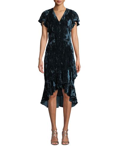Designer dresses at neiman marcus shoshanna barnet v neck crushed velvet dress freerunsca Images