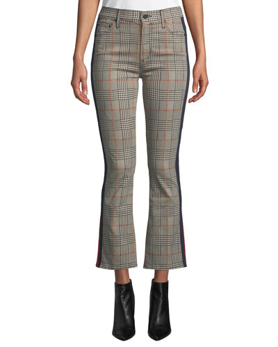 The Insider Plaid Ankle Trousers with Racer Stripes