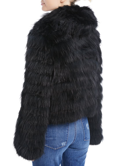 Nadia Hooded Fur Coat