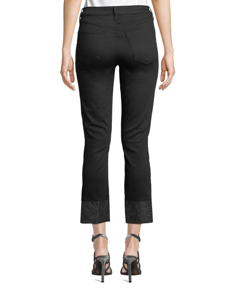 J Brand Ruby Cropped High-Rise Cigarette Jeans