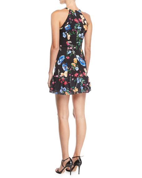 Parker Bella Floral Flounce Mini Dress