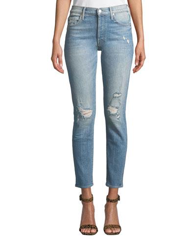 The Stinger Flood Distressed Ankle Skinny Jeans