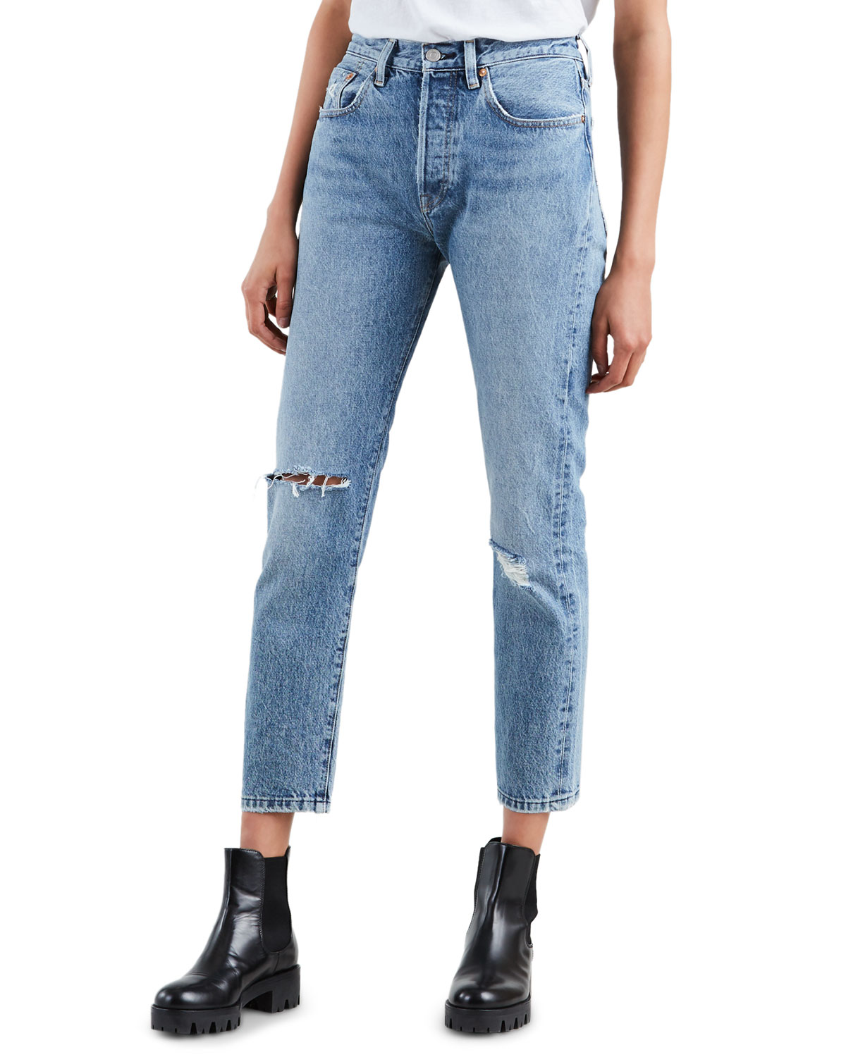 fashion styles exclusive deals best quality for 501 High-Rise Cropped Skinny Jeans