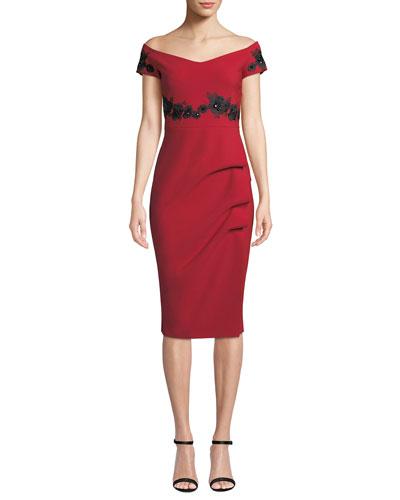 Thira Embellished Off-the-Shoulder Dress