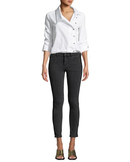 DL1961 Premium Denim Margaux Side-Stripe Instasculpt Skinny Jeans