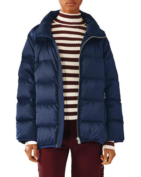 Tory Sport Satin Down Full-Zip Puffer Jacket