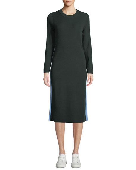 Tory Sport Performance Cashmere Double-Stripe Dress