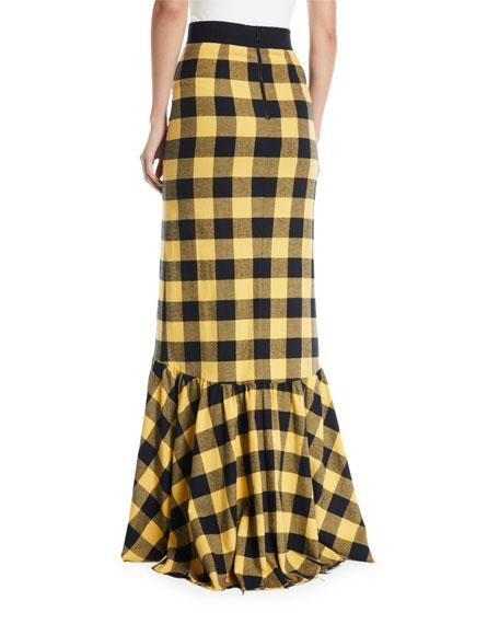 Arianna Ruffle Slit Trumpet Skirt