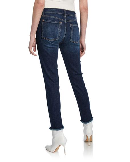 7 For All Mankind Roxanne Straight-Leg Ankle Fray-Hem Jeans