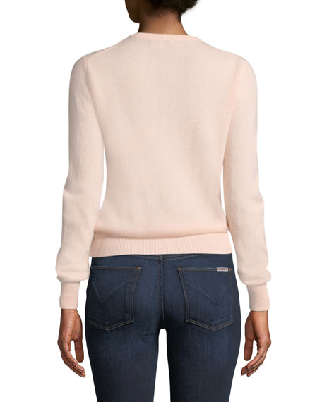 Image 2 of 2: Lingua Franca Booyah Embroidered Cashmere Sweater