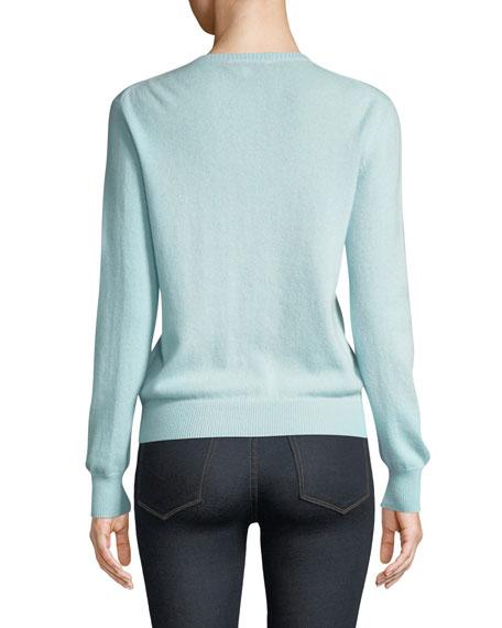 Lingua Franca Original Gangsta Embroidered Cashmere Sweater