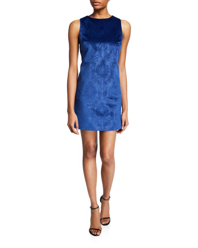 Clyde Short Brocade Cocktail Shift Dress