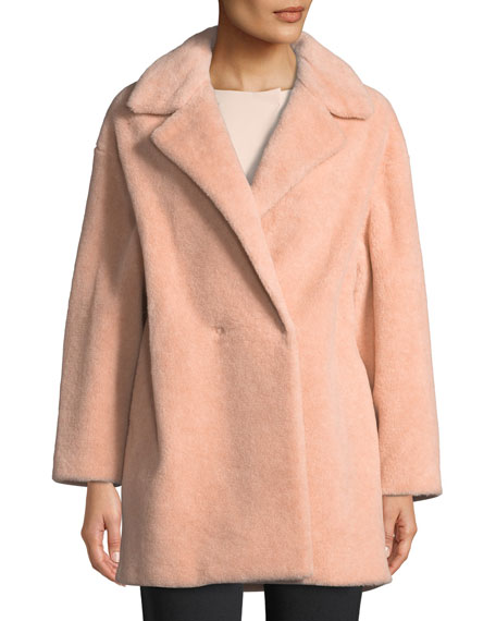 Harris Wharf London Teddy Double-Breasted Faux Fur Jacket