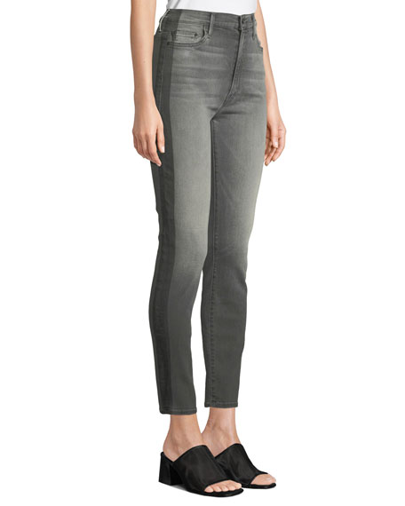 MOTHER The Swooner Side-Stripe High-Rise Skinny Jeans