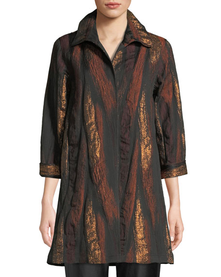 Caroline Rose Gold Rush Jacquard Topper Jacket