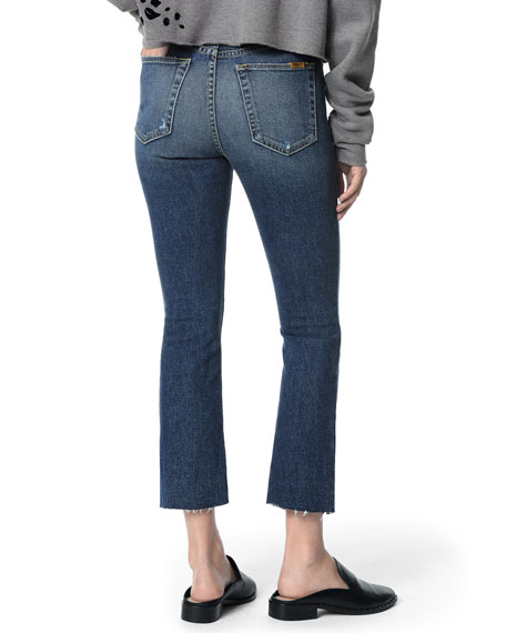 Joe's Jeans The Callie Raw-Hem Distressed Cropped Jeans