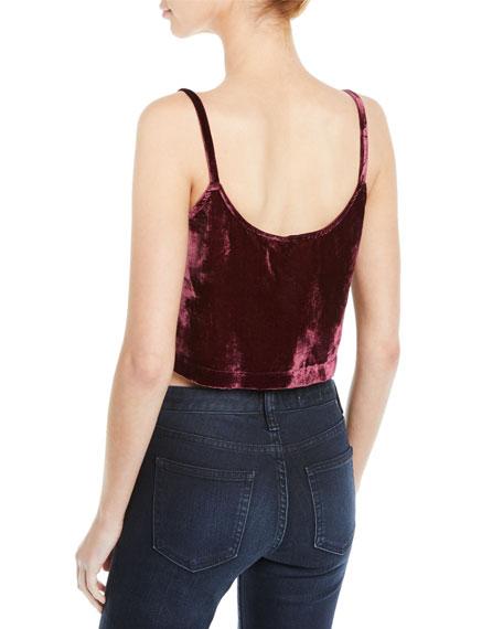 Rachel Pally Velvet Cami Crop Top