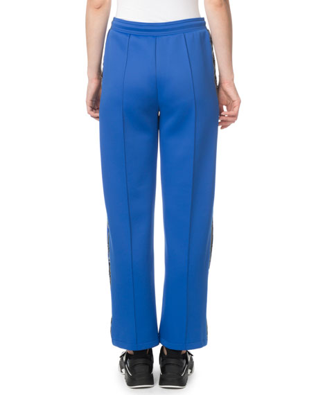 Kenzo Cropped Side-Stripe Jogger Track Pants