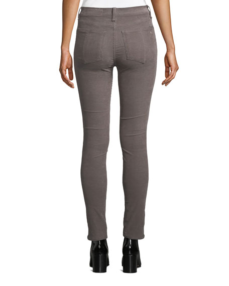 Rag & Bone High-Waist Corduroy Skinny Ankle Jeans