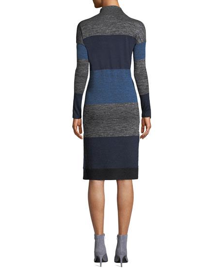 Rag & Bone Bowery Striped Turtleneck Dress
