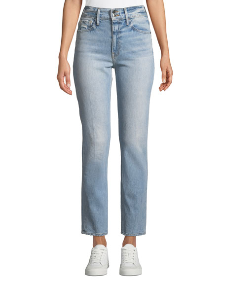 FRAME Le Sylvie High-Rise Straight-Leg Ankle Jeans