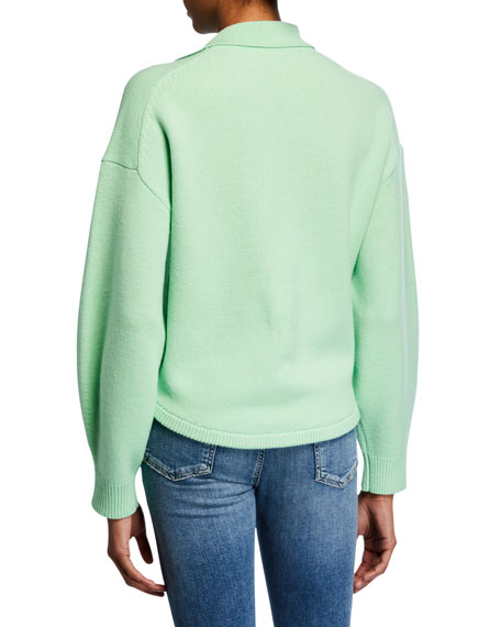 Tibi Airy Extrafine Wool Pullover Sweater
