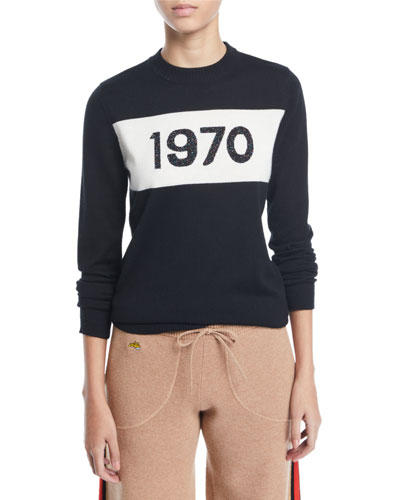 1970 Sparkle Graphic Wool Sweater