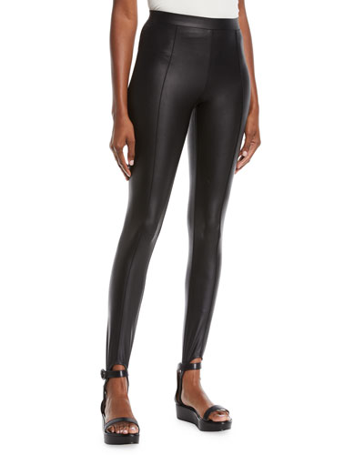 Glazed Jersey Stirrup Leggings