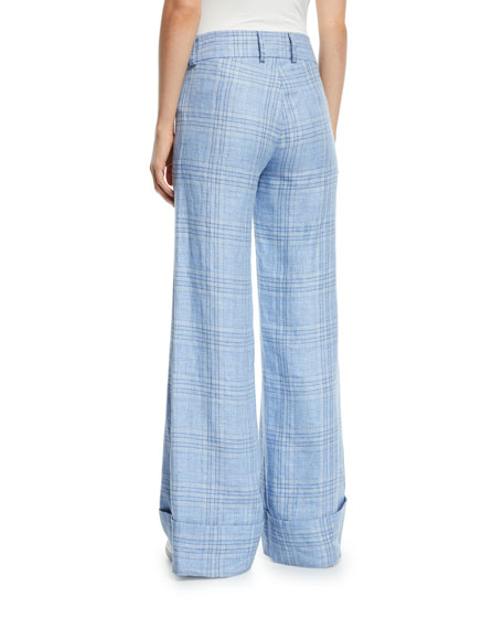 Maggie Marilyn Always Here For You Cuffed Linen Check Pants