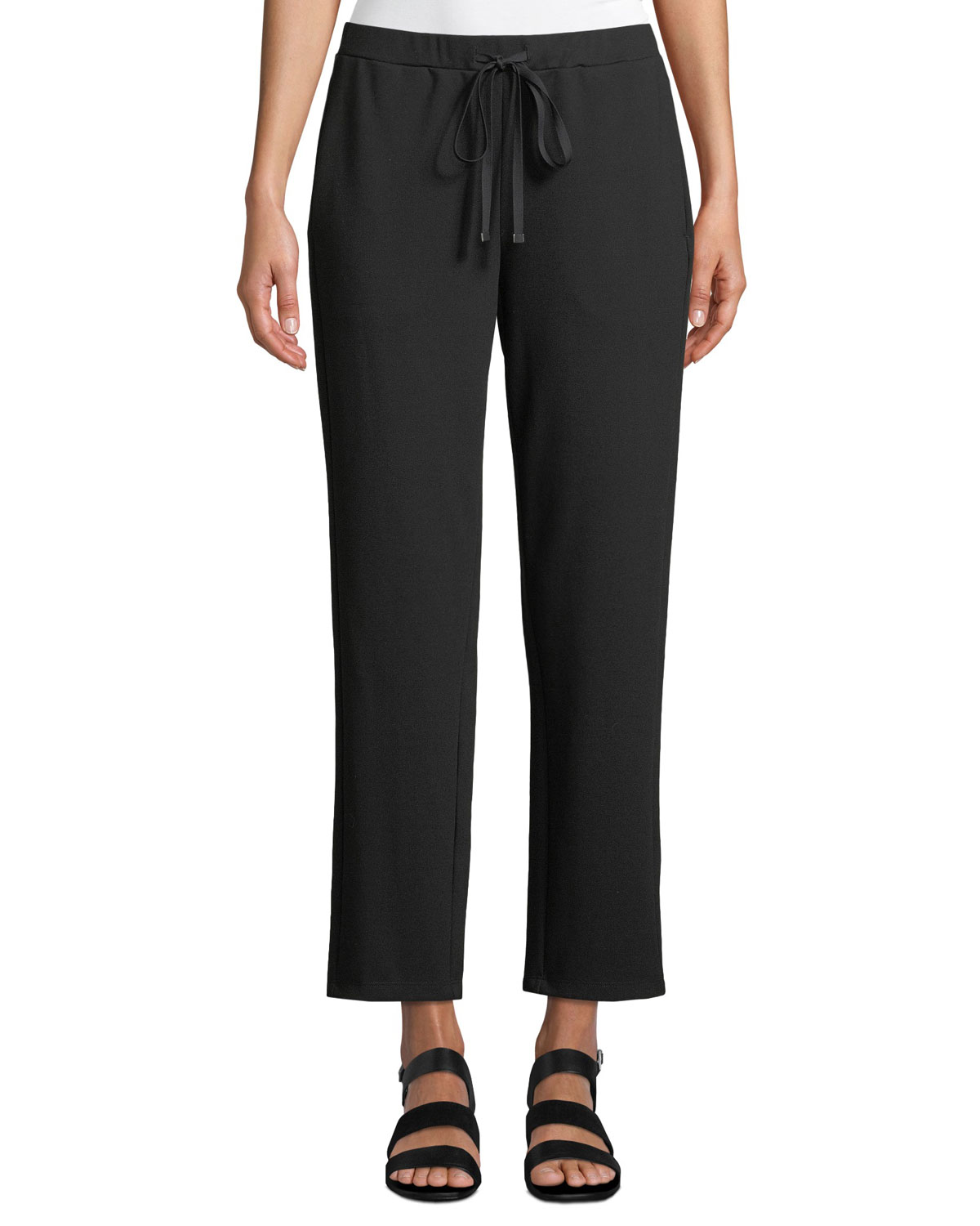 Eileen fisher petite travel ponte ankle pants neiman marcus for Travel pants petite