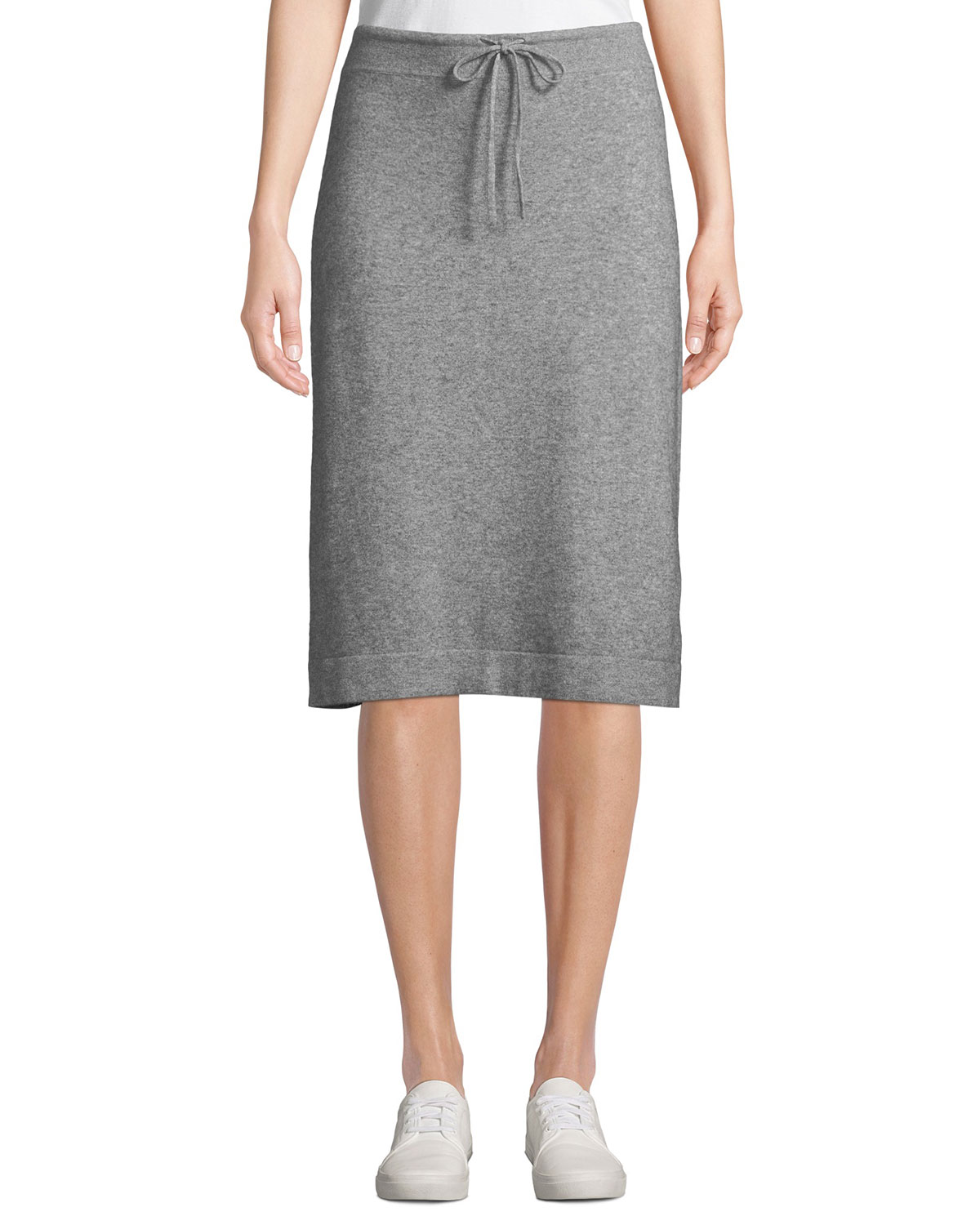 f2f8e7577c4 Vince Wool-Cashmere Drawstring Sweater Skirt
