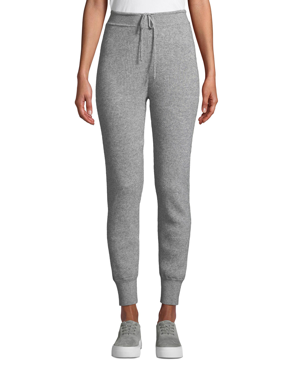 b563a6b12 Vince Ribbed Wool-Cashmere Jogger Pants