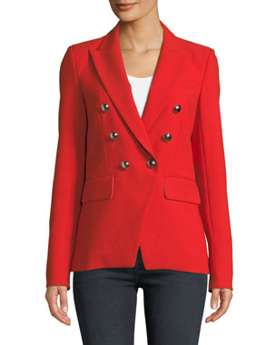 bf97ff055b1624 Veronica Beard Miller Double-Breasted Dickey Jacket