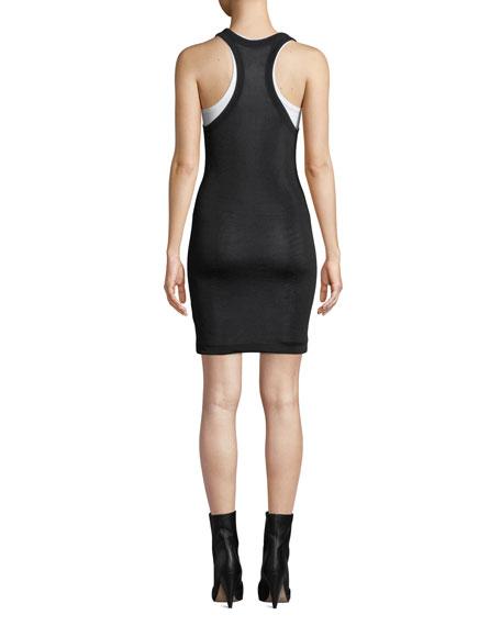 Scoop-Neck Viscose Short Tee Dress