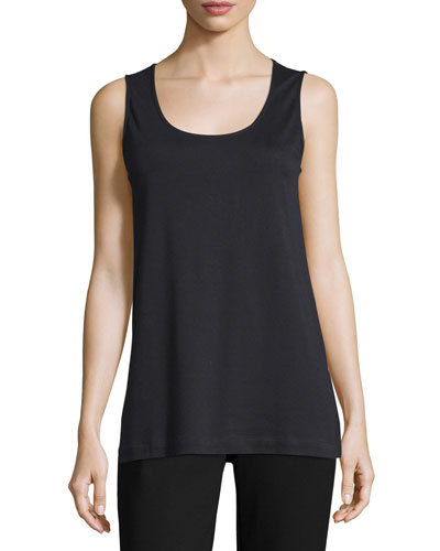 Soft Scoop-Neck Tank, Petite
