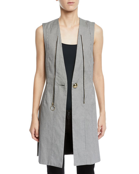 Opening Ceremony Zip-Off Bomber Coat with Vest