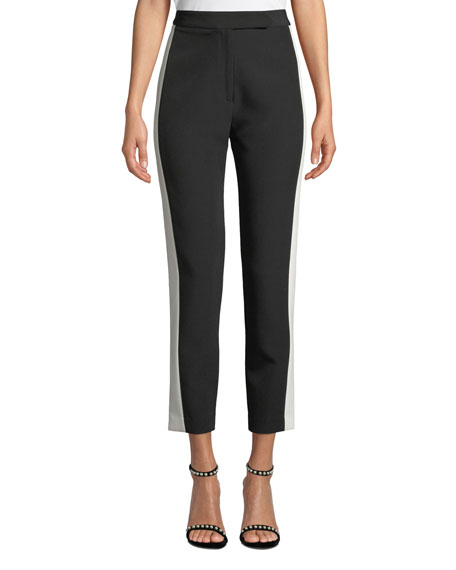 Milly Stretch Crepe Combo Skinny Pants