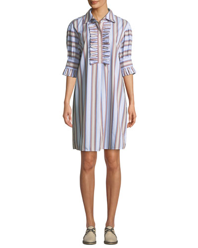 d225fcfe5ed Striped Ruffle-Front Half-Sleeve Shirtdress. Add to favorites. Add to  favorites Add to Favorites. Quick Look. Tory Burch