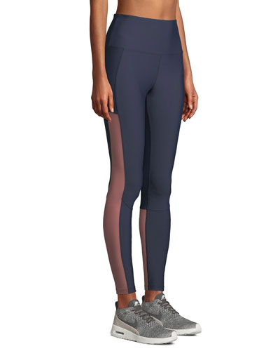 Dylan High-Rise Mesh Leggings