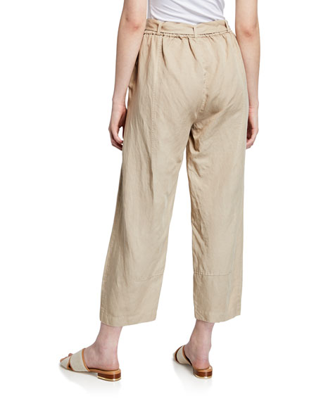 Eileen Fisher Tencel® Linen Tie-Waist Lantern Pants