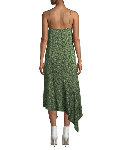 Christian Wijnants Dista Leopard-Print Handkerchief Slip Dress